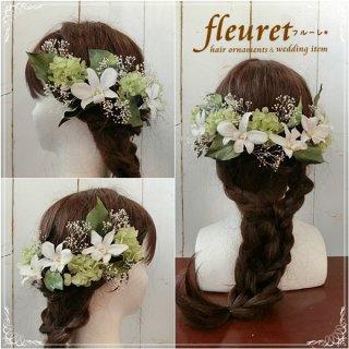 結婚式 オーダーメイド ヘッドドレス【髪飾り】