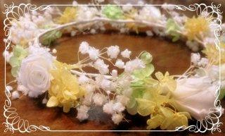 結婚式 カスミソウのオーダーメイド 花冠