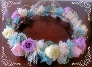 結婚式用花冠の色変更