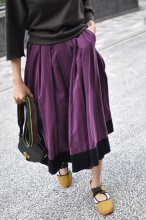 YvesSaintLaurent(イヴサンローラン)コーデュロイスカート パープル