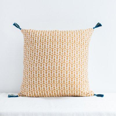 jamini・cushion ashu mustard yellow
