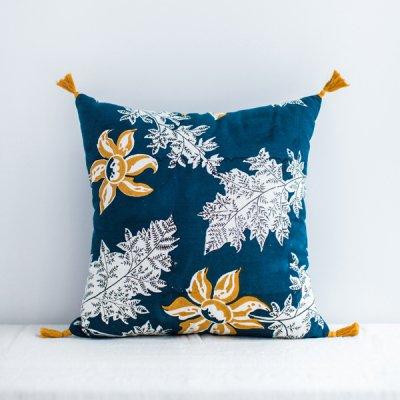 jamini・cushion devi indigo blue