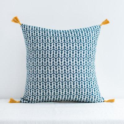 jamini・cushion ashu duck blue