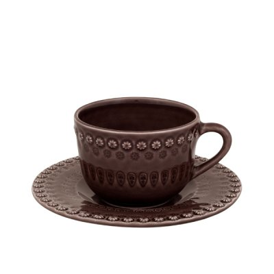 bordallo pinheiro・ cap & saucer cocoa<img class='new_mark_img2' src='//img.shop-pro.jp/img/new/icons8.gif' style='border:none;display:inline;margin:0px;padding:0px;width:auto;' />