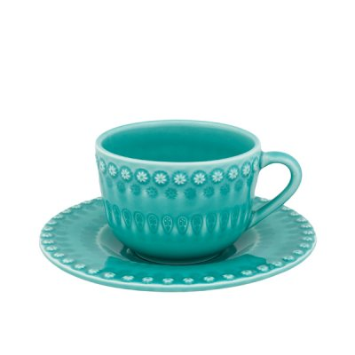 bordallo pinheiro・ cap & saucer aquagreen<img class='new_mark_img2' src='//img.shop-pro.jp/img/new/icons8.gif' style='border:none;display:inline;margin:0px;padding:0px;width:auto;' />