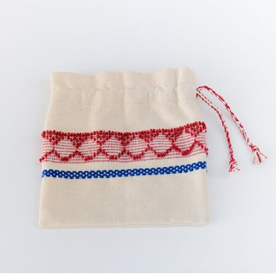 Almalaguês・Cotton Sac S size・red/blue