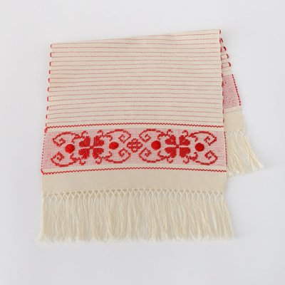 Almalaguês・Table mat tassel・red
