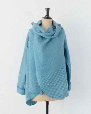 Chicoração ・Shawl jaket swallow cloud turquise