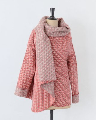 Chicoração ・Shawl jaket flower biface red