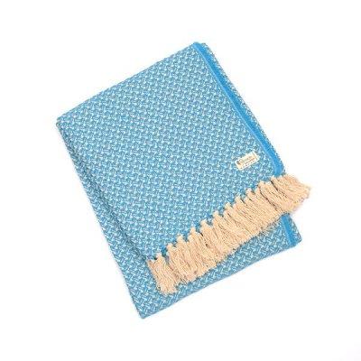 Chicoração ・Cotton Half Blanket Swallow turquoise