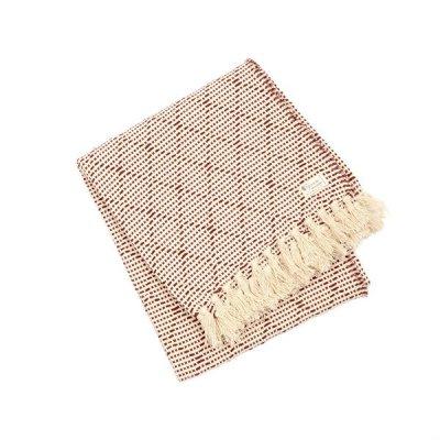 Chicoração ・Cotton Half Blanket Carcada black/natural
