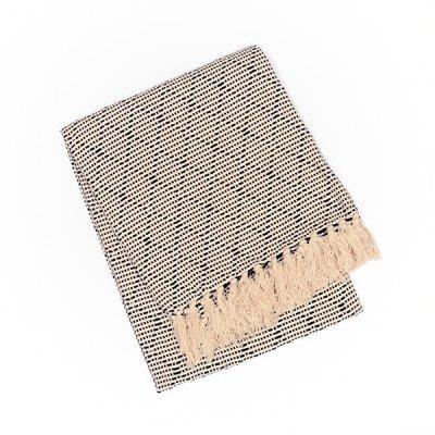 Chicoração ・Cotton Blanket Carcada black/natural