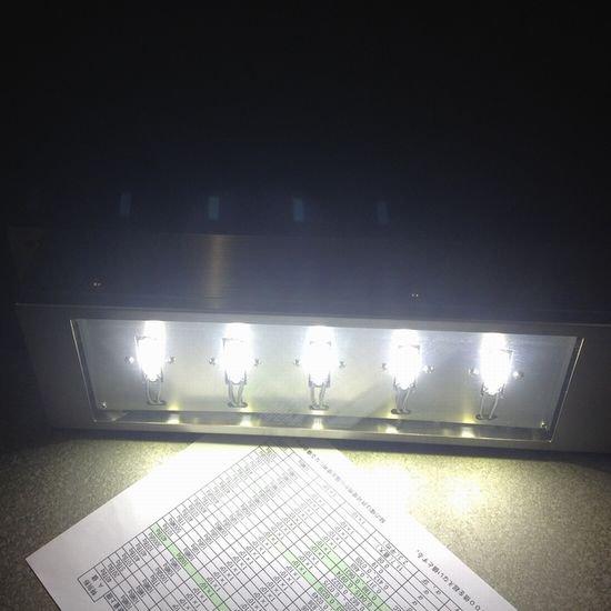 店舗用 白色5連LED照明灯