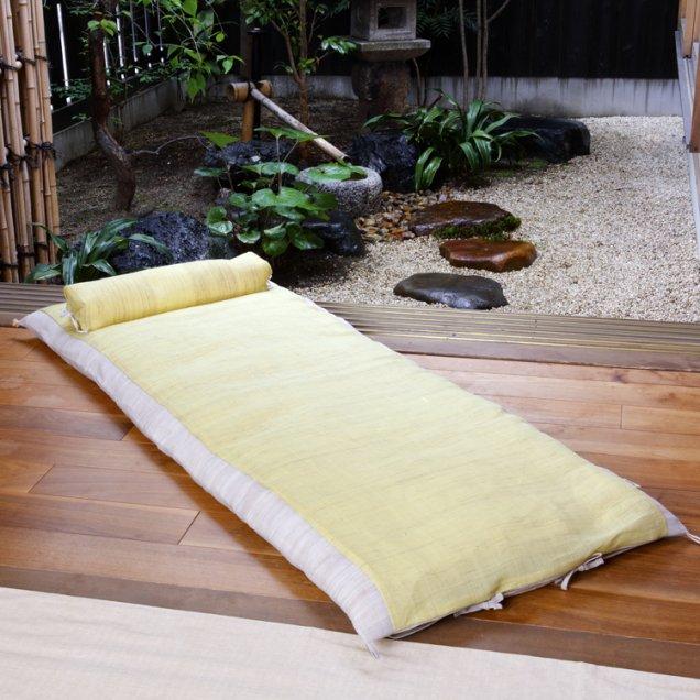 【長寿祝】 本麻ごろ寝敷き布団&なが枕セット 傘寿祝い/米寿祝い