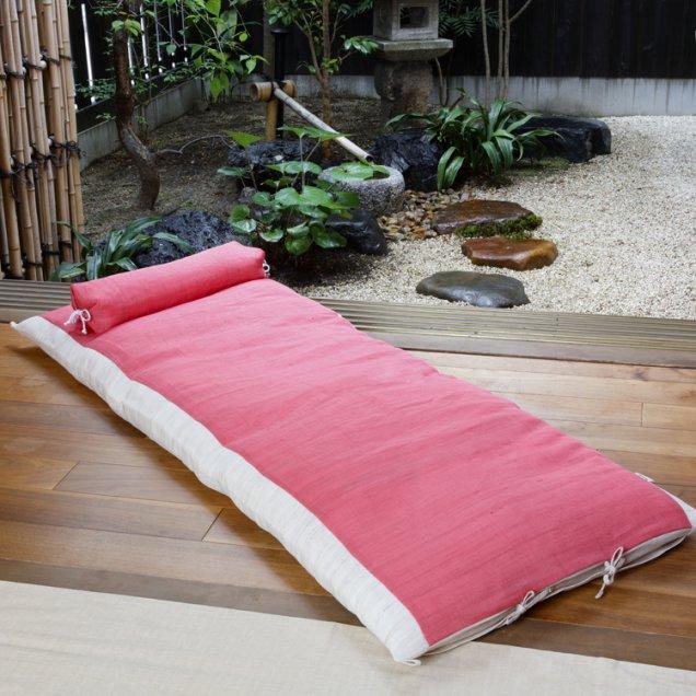 【長寿祝】 本麻ごろ寝敷き布団&なが枕セット 還暦祝い