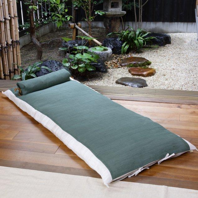【長寿祝】 本麻ごろ寝敷き布団&なが枕セット 緑寿祝い