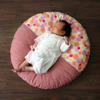 小せんべい座布団 直径70cm 赤ちゃん クッション 座布団 お昼寝 ベビー マット 丸 おしゃれ