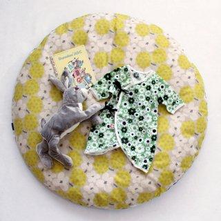 【warara限定】撥水ヌードせんべい座布団&カバーセット お花としましま