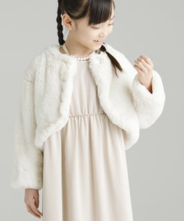 OUTLET CREAMY FUR BOLERO(AL812915)