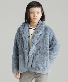 OUTLET CREAMY FUR COAT<img class='new_mark_img2' src='https://img.shop-pro.jp/img/new/icons20.gif' style='border:none;display:inline;margin:0px;padding:0px;width:auto;' />