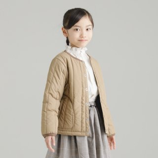 OUTLET STRIPE QUILT JACKET<img class='new_mark_img2' src='https://img.shop-pro.jp/img/new/icons20.gif' style='border:none;display:inline;margin:0px;padding:0px;width:auto;' />