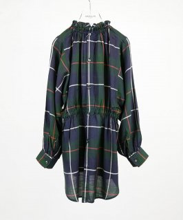 OUTLET 2WAY FRILL CHECK SHIRT<img class='new_mark_img2' src='https://img.shop-pro.jp/img/new/icons20.gif' style='border:none;display:inline;margin:0px;padding:0px;width:auto;' />