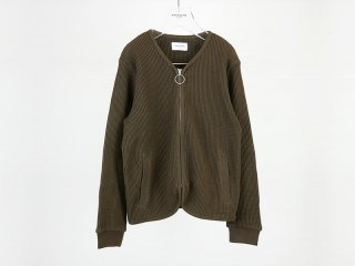 OUTLET WAFFLE ZIP CARDIGAN<img class='new_mark_img2' src='https://img.shop-pro.jp/img/new/icons20.gif' style='border:none;display:inline;margin:0px;padding:0px;width:auto;' />