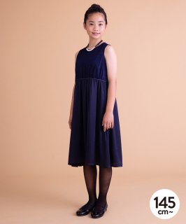 VELVET SATIN GATHER DRESS