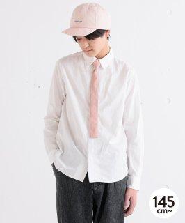 KNIT TIE SHIRT ネクタイ風シャツ/着脱容易なドット釦[145-175cm]