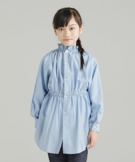 2WAY FRILL SHIRT SOLID