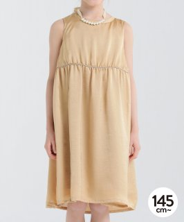 SATAIN GATHER DRESS