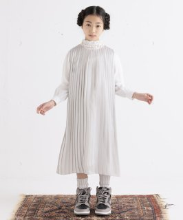 SLEEVELESS PLEATS DRESS