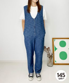 SOFT DENIM JERSEY SALOPETTE