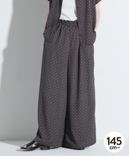 SCARF PRINT GATHER PANTS