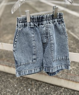 LIGHT DENIM FATIGUE SHORTS