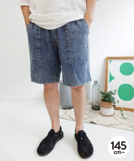 LIGHT DENIM FATIGUE SHORTS  薄地/夏用デニム [145-175cm]