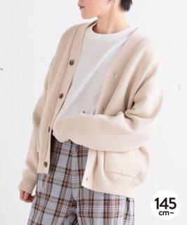 COTTON KNIT V/N CARDIGAN  ダブルジャガード編み  オンオフ兼用[145-175cm]