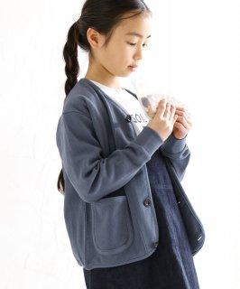 ORGANIC HONEYCOMB CARDIGAN ハニカム編み/オーガニックコットン[85-145cm]