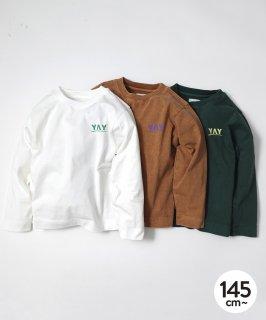 CANVAS YAY L/S TEE ジャストルーズ/製品染め [145-175cm]
