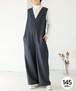 V-NECKED SALOPETTE  オールインワン/通年素材 [145-165cm]