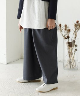 GATHER WIDE PANTS  通年素材[115-145cm]