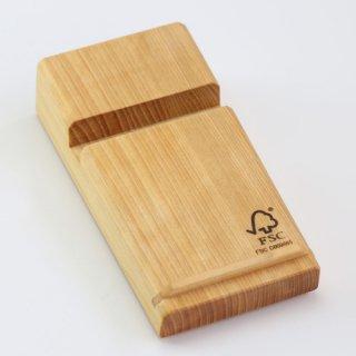 【FSC認証商品】尾鷲ヒノキ製 木目鮮やかなアイデアツール!|スマホスタンド大|ウッドメイクキタムラ