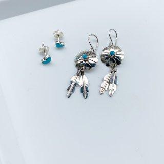 Indian Jewelry ターコイズ ドリームキャッチャーピアス