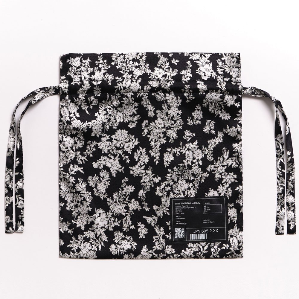 <img class='new_mark_img1' src='https://img.shop-pro.jp/img/new/icons14.gif' style='border:none;display:inline;margin:0px;padding:0px;width:auto;' />2021SS collection Jacquard Drawstring Bag