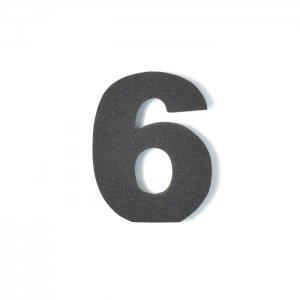 EVA数字 6 ブラック