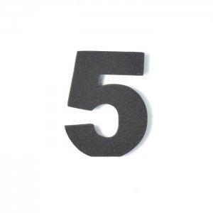 EVA数字 5 ブラック