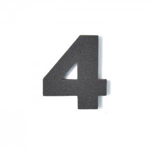 EVA数字 4 ブラック