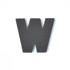 EVAアルファベット W ブラック