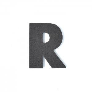 EVAアルファベット R ブラック