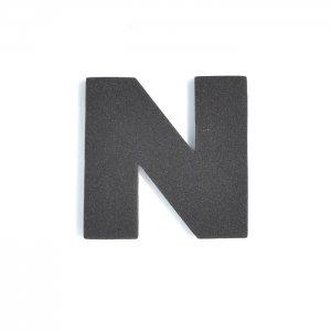 EVAアルファベット N ブラック
